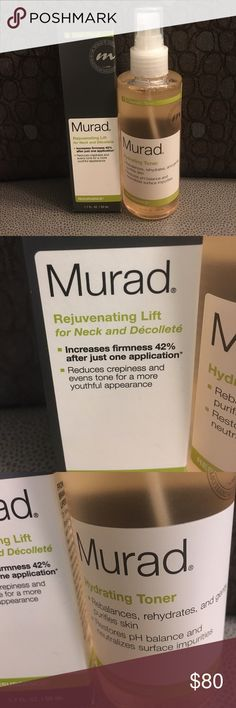 Bundle of Murad Skincare Products Murad Rejuvenating Lift for Neck and Décolleté AND Murad Hydrating toner. If this doesn't sell by 8/15 I am keeping it. Murad Other