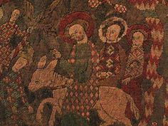 Embroidered Hanging with Old testement scenes Silk on linen with details added in paint Lower Saxony, Germany, late century - Sdiuvqa Medieval Embroidery, Sashiko Embroidery, Folk Embroidery, Japanese Embroidery, Embroidery Designs, Bayeux Tapestry, Medieval Art, Brick Stitch, 14th Century
