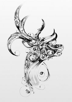 Stag, I want this as a tattoo. Because the Celtic stag legends are awesome.