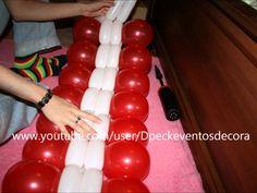 Como hacer un centro de mesa con globos redondos y 260 - Balloon Centerpiece