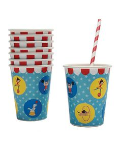 Big Top Paper Cup - Set of 16 by Party Partners #zulily #zulilyfinds