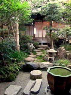 Peacefully Japanese landscape Zen Garden for your - Japanese Garden Design Japanese Garden Landscape, Small Japanese Garden, Japanese Garden Design, Japanese Gardens, Japanese Style, Small Oriental Garden Ideas, Japanese Garden Lighting, Small Courtyard Gardens, Outdoor Gardens