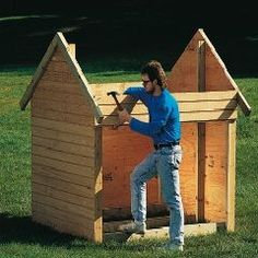 step by step playhouse instructions
