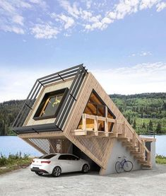 Container House Design, Small House Design, Modern House Design, Architecture Design, Amazing Architecture, Architecture Today, 21st Century Homes, Casas Containers, Tiny House Cabin