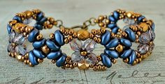 Linda's Crafty Inspirations: Bracelet of the Day: Eclipse Bracelet - Montana Blue