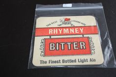 1965 Beermat Rhymney and Crosswells Cat 031 (2C75 9/14)