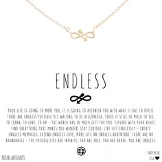 Our dainty endless infinity arrow necklace can be worn as a constant reminder that there are no boundaries in life - the possibilities are infinite. Symbol Tattoos With Meaning, Love Symbol Tattoos, Bff Tattoos, Body Art Tattoos, Tatoos, Tattoo Now, Constilation Tattoo, Funny Instagram Captions, Meaningful Tattoo Quotes