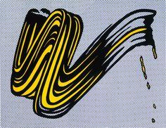 Roy Lichtenstein - Brushstroke