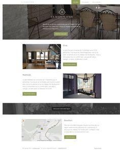 Layout d'un site de location de gîtes. Développement en cours avec le CMS Wordpress.