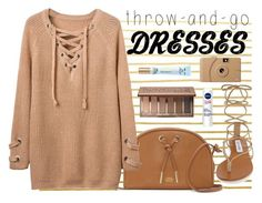 """Throw & Go 2"" by beaumarie ❤ liked on Polyvore featuring Urban Decay, Steve Madden, Vince Camuto, Poketo, Nivea and Too Faced Cosmetics"