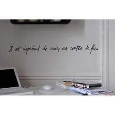 Imagine it bleu metal wall sign plaque art inspirational motivational citation poème
