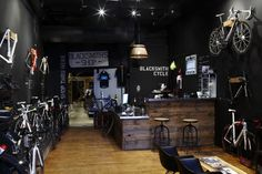 engelhorn sports – bike and skater department - Blocher Blocher Partners Bicycle Cafe, Bicycle Store, Engelhorn Sport, Sport Bikes, Boutique Moto, Ultimate Garage, Blacksmith Shop, Bike Shed, Bike Parking