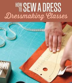 Learn how to sew a dress with our DIY Projects dressmaking classes. Hands on lessons and sewing tutorials to make a dress from scratch. Easy beginner tutorials.