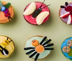 Bug Cupcakes: These bugs are great fun to make and the kids will enjoy picking their favourite one!. http://www.bakers-corner.com.au/recipes/cupcakes/bug-cupcakes/