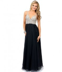 celine black prom dress