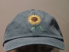 cb4f88ad4ca SUNFLOWER Hat - Embroidered Women Men Autumn Garden Baseball Cap - 24 Colors  Mom Dad Gift Caps Available - Price Apparel Embroidery