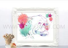 Bulldog,para imprimir, digital, ilustración de bulldog, dibujo de bulldog,  ilustraciones de animales, acuarela, cuadro, perro, poster