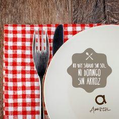 No hay sábado sin sol, ni domingo sin arroz. #RefranesAmeztoi #comidacasera