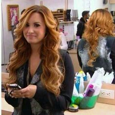 I love her hair like this!