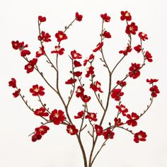 Red Velvet Plum Blossoms, Set of 2 from Cost Plus World Market on Catalog Spree, my personal digital mall.