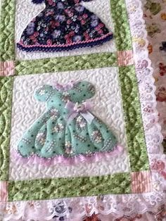 Like Sunbonnet Sue, but focusing more on the little dress itself... <3