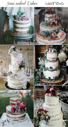 15 Most Unique Floral Wedding Cakes Ever That Will Inspire Y.- 15 Most Unique Floral Wedding Cakes Ever That Will Inspire You semi-naked wedding cakes ideas rustic wedding cake nakedcakes Floral Wedding Cakes, Wedding Cake Rustic, Rustic Cake, Unique Wedding Cakes, Wedding Cakes With Flowers, Wedding Cake Designs, Cake Wedding, Western Wedding Cakes, Trendy Wedding
