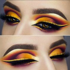 25 Special And Professional Eye Make up For Beginners that they can easily do with few special tips.Moreover, here you will see how can you make a colorful Professional Eye Make up, Makeup Eye Looks, Eye Makeup Art, Drag Makeup, Colorful Eye Makeup, Beautiful Eye Makeup, Cute Makeup, Pretty Makeup, Eyeshadow Makeup, Makeup Wings