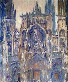 """"""" Claude Monet - Study of Portal of Rouen Cathedral (1892) """""""