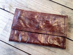 Vintage Eel Skin Clutch | VTG Clutch | Light Clutch | Make-up Bag | Cosmetic Bag | Jewelry Bag | Evening Clutch | Casual Clutch | Retro