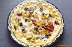 Torta salata con verdure miste