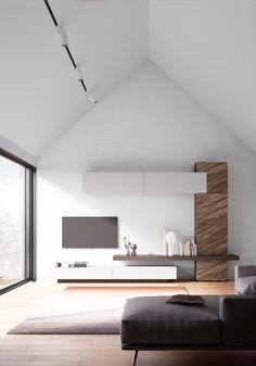 New Living Room, Living Room Sofa, Interior Design Living Room, Home And Living, Tv Unit Interior Design, Apartment Interior Design, Flur Design, Hall Design, Tv Unit Furniture