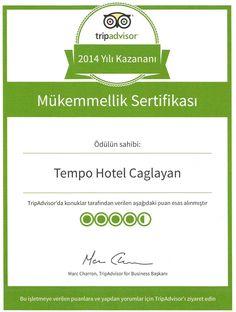 Tempo Hotel Çağlayan  -  TRIPADVISOR 2014