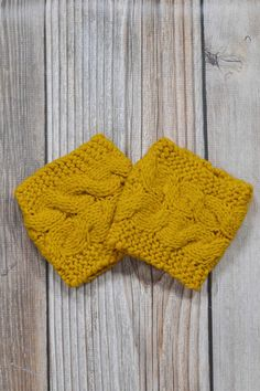 c46a76954a Mustard Cable Knit Sweater Boot Cuffs