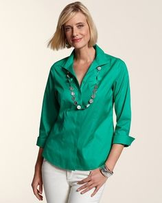 Chico's No Iron Collection Tops for Women - available in beautiful colors..wonderful wash & wear material