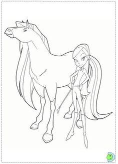 Dinokidsorg A001 Coloring 03 Horseland