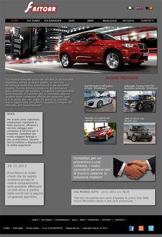 Bozza grafica per sviluppo concept sito web Audi, Bmw