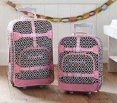 Mackenzie Chocolate Geo Luggage #pbkids
