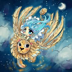 The Winged Lion by YamPuff.deviantart.com on @DeviantArt