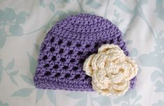 Crochet Flower Patterns to Print   Free Pattern: Open Stitch Hat - Newborn