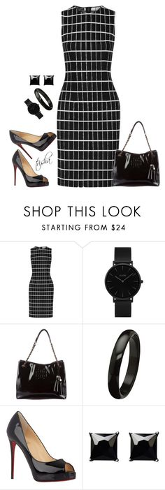 """Workwear"" by pkoff ❤ liked on Polyvore featuring Narciso Rodriguez, CLUSE, Tory Burch, Christian Louboutin and Witchery"