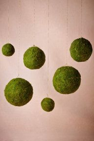 Moss Spheres - wrap with fishing line