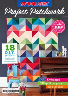 We've rounded up a collection of our favourite quilting and patchwork projects for this, Spotlight's first ever dedicated quilting book! W...