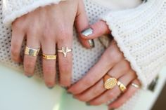 How to wear multiple rings without overdoing it.