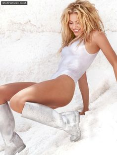 Shakira in her White Shiny One... is listed (or ranked) 2 on the list The Hottest Shakira Bikini Pictures