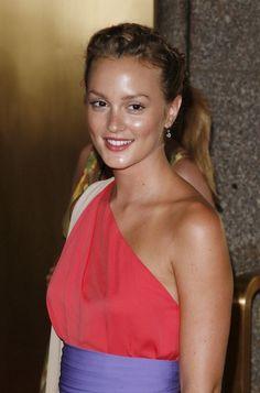 Leighton Meester Braided Bun #hair and beauty