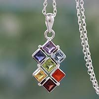 Multi-Gemstone Sterling Silver Chakra Pendant Necklace - Wellness | NOVICA | When you shop all of the unique handmade products offered at NOVICA, you are helping artisans all over the world to elevate their craft & build sustainable businesses! Get up to 11.2% Cashback when you shop the NOVICA store as a DubLi member! Sign up for FREE today! www.downrightdealz.com