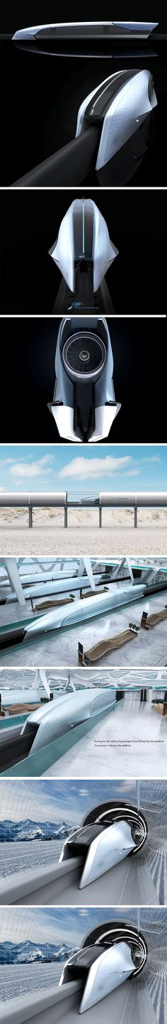 The modern Spacetrain aims to connect and exceed the same 12 mile line of the Aerotrain located between the French cities of Saran and Ruan that remains currently unused. The subterranean train system would circulate in a system of tunnels operating in a low pressure atmosphere at near-supersonic speeds. This innovative tunnel system isn't just ideal for speed, it also prevents vibration and noise that would otherwise disrupt nearby neighborhoods and the environment.
