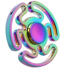 Amazing quality 2017 new Rainbow Metal Fidget Spinner Tri-Spinner Hand Spinner Toy EDC Sensory for Autism and ADHD Kids/Adult Funny Anti Stress Toy For Decompression Anxiety Office Stress Relief Rainbow Fidget Spinner, Cool Fidget Spinners, Metal Fidget Spinner, Stress Toys, Stress Relief Toys, Anxiety Relief, Figget Spinner, Rainbow Metal, Rainbow Toys