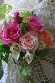 Beautiful Roses <3 Love the soft pink contrast against the vibrant pink and green