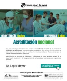 Nuevamente la carrera de Odontología y Enfermaría fueron acreditadas. #umayor #acreditación #odontología #enfermaría